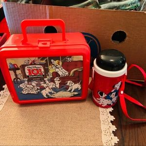 101 dalmatians 90's lunch box thermos & strap cup